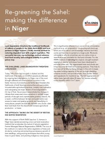 Re-greening the Sahel making the difference in Niger cover