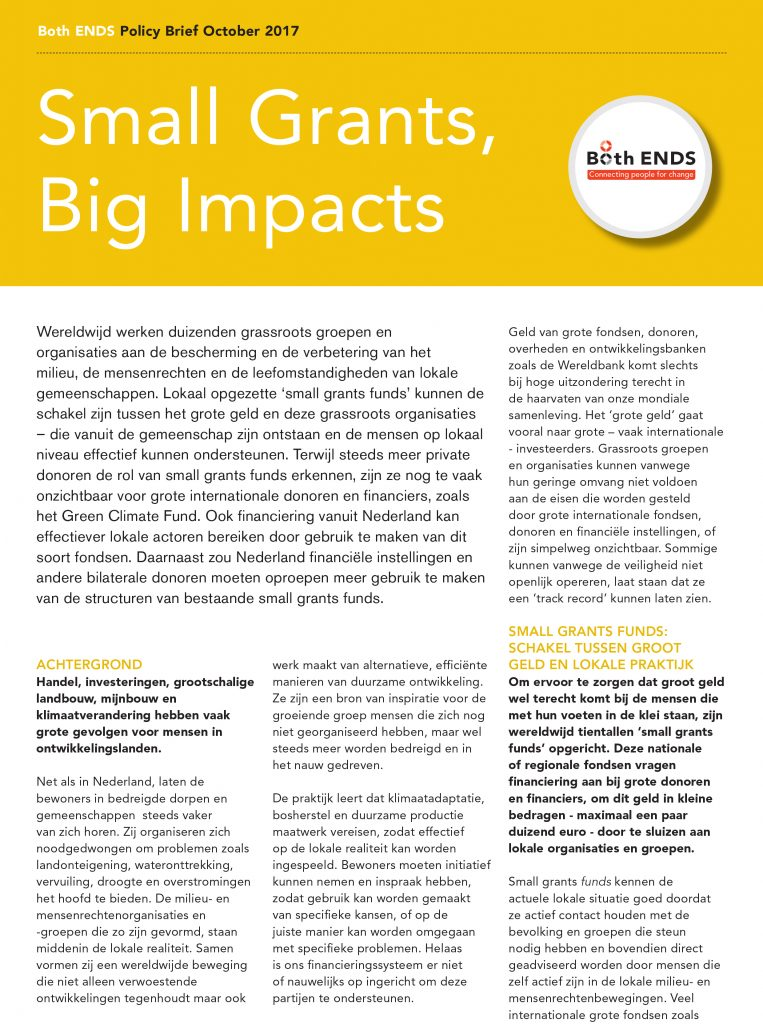 4 pager Small Grants, Big Impacts