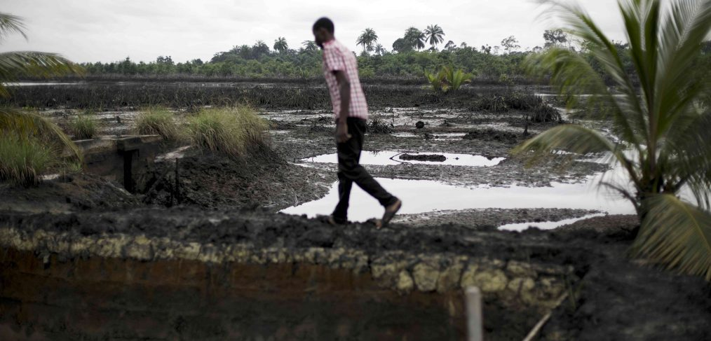 Oil spill, Ogoniland, Nigeria. Photo by Luka Tomac/Friends of the Earth International on Flickr
